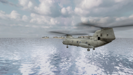 Ch46e Transport Helicopter