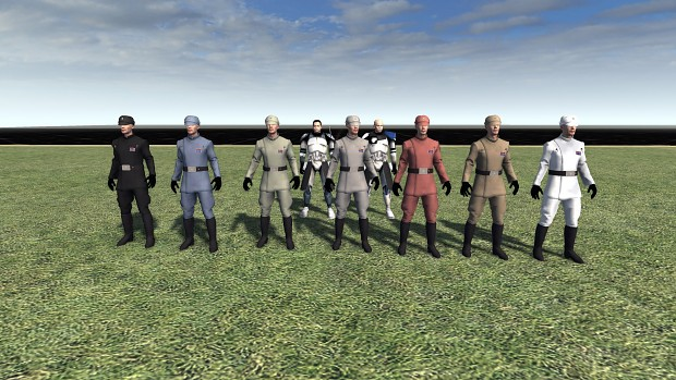 Imperial Officers (Re-textured)