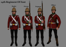British 24th Regiment Of Foot