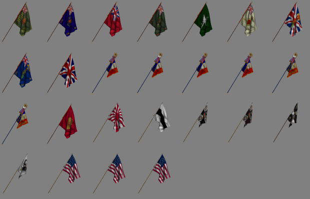 New flag meshes