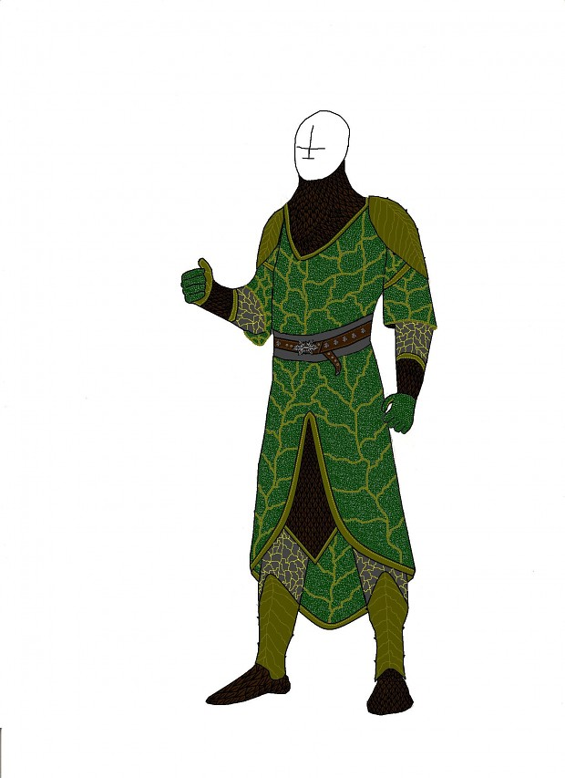 Heavy  Elven mail green Concept
