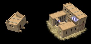 New Barracks & House models