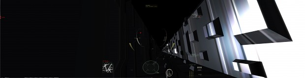 Preliminary screenshot of the Trench Run on the first Death Star. Don't look know but Darth Vader is right behind you.