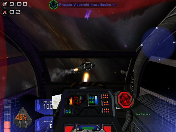 Cockpit of theTriton Bomber (critical damage)
