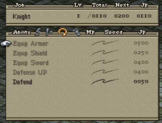 Knight Support Abilities