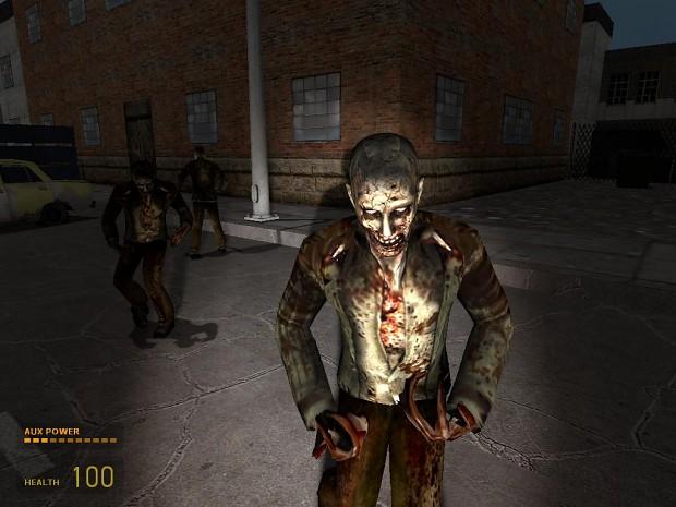 Resident Evil Zombie REskin of Headcrab Zombie