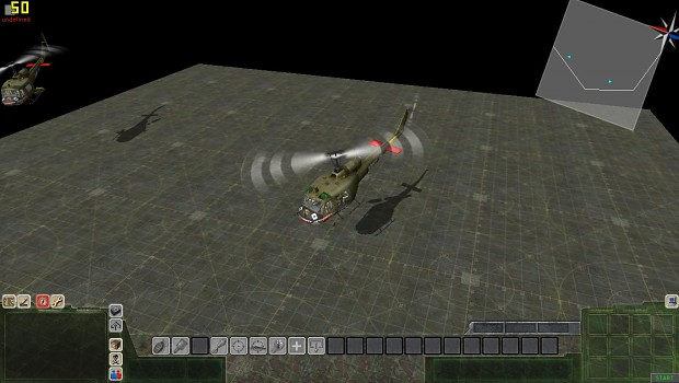 And the heli's flying