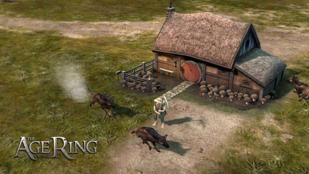 Farmer Maggot, his hounds, and his mushroom farm...