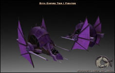 Sith Empire Tier I Fighter Textured