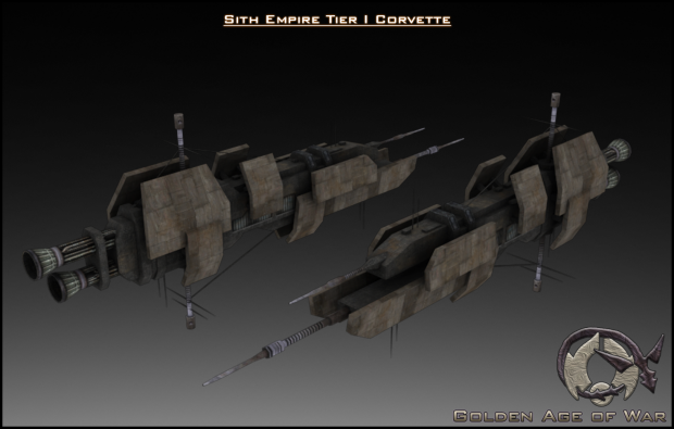 Sith Empire Shrike Class Corvette Textured