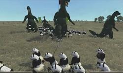 Godzilla vs Pandas