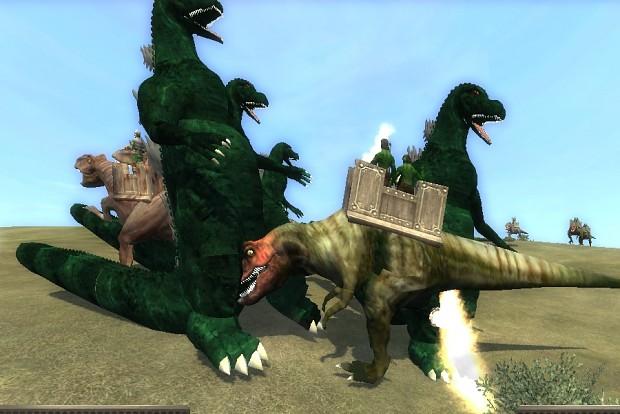 Godzilla vs T-Rex