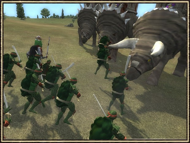 Ceratopsians vs Ninja Turtles