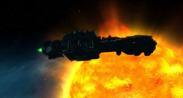 Bismarck orbiting a Star