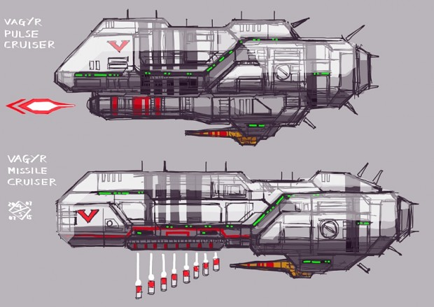 Vaygr Pulse Laser Destroyer/Missile Cruiser