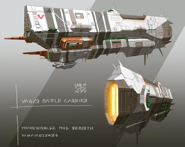 Vaygr Battle Carrier concept in color
