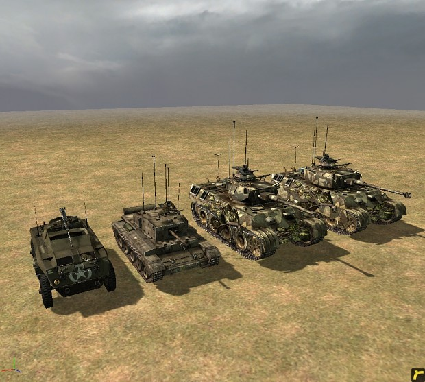 Command Vehicles and Tanks for all factions