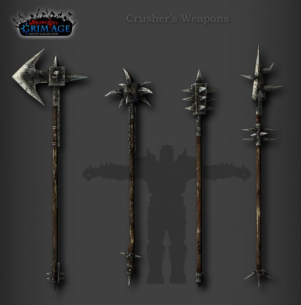 Crusher's weapons