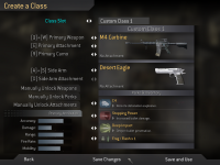 In-Game Menu: Create-a-Class
