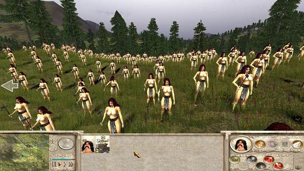 18+ Viewers Only - Amazons Total War, Amazon Peasants test