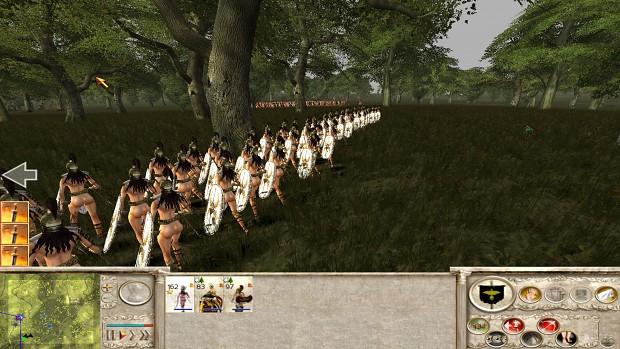 18+ Viewers Only - Amazons Total War, Carthaginian Xiphos Shieldmaiden
