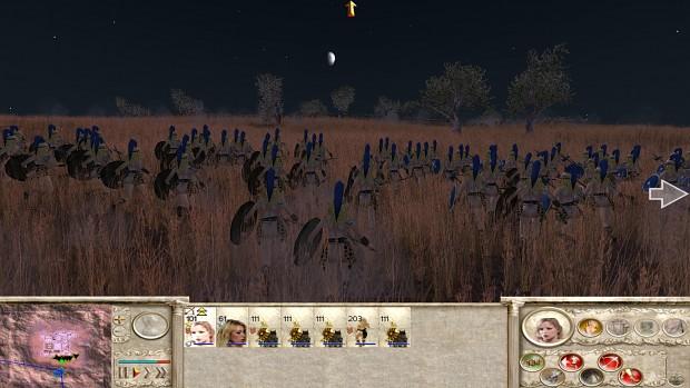 axes maiden charging through tall grass
