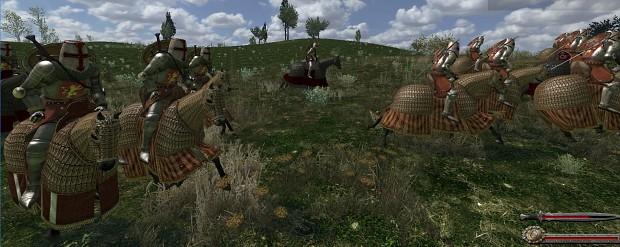 War Horses With Long Barding (0.9)
