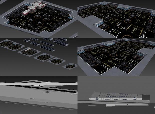Starbase build day #3: More hangars + main docking bay