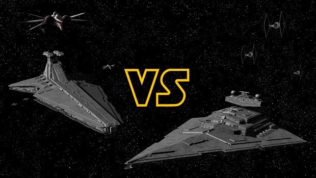 Venator Star Destroyer vs Imperial I Star Destroyer