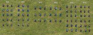 European set foot units.