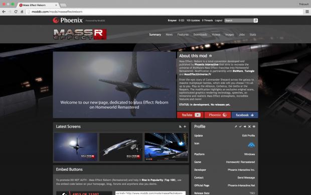 Mass Effect: Reborn - New ModDB page