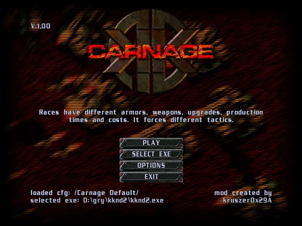 KKnD2: Carnage - interface