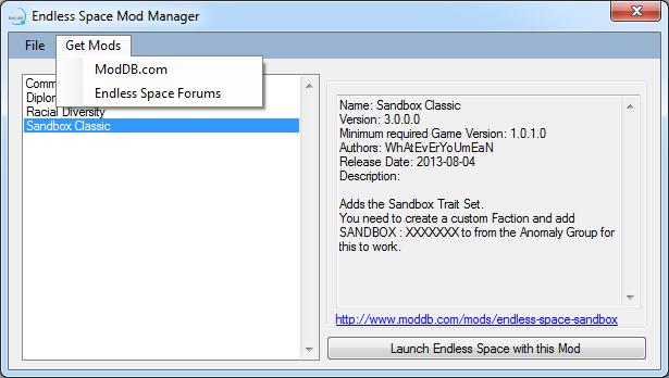 Mod Manager Screenshots