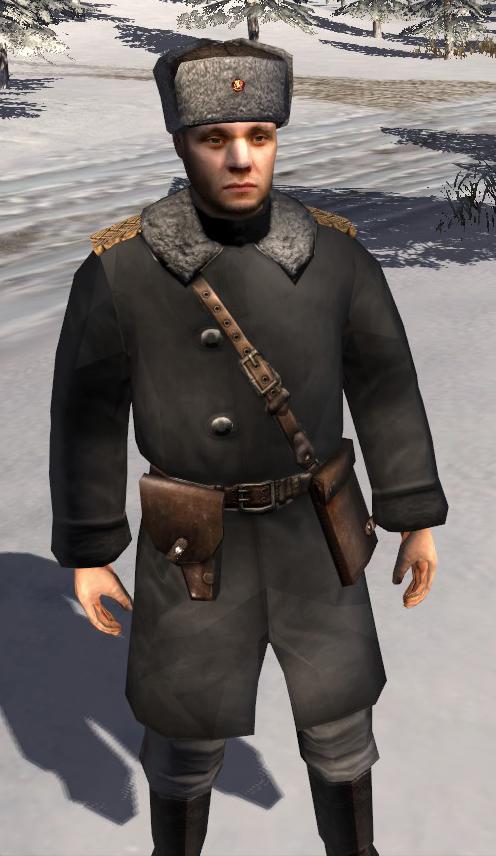 Fixed fur hat & Finnish winter Colonel