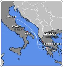 map of Greece and Italy