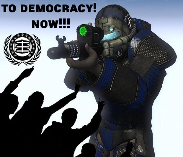 to democracy!