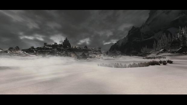 dark winter scenery
