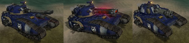 Super Heavy War Machines: Fellblade, Glaive, and Falchion.