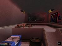Interior scene in crashed ship
