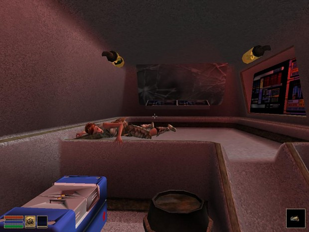 Interior scene in crashed ship
