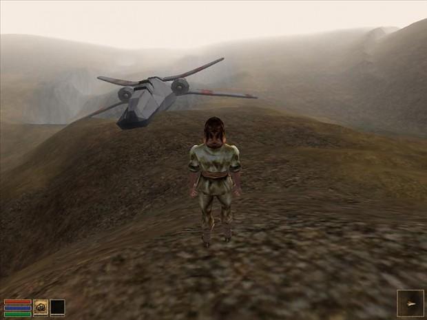 Crash landing site