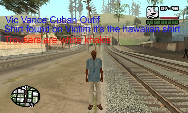 Vic Vance Cuban Outfit