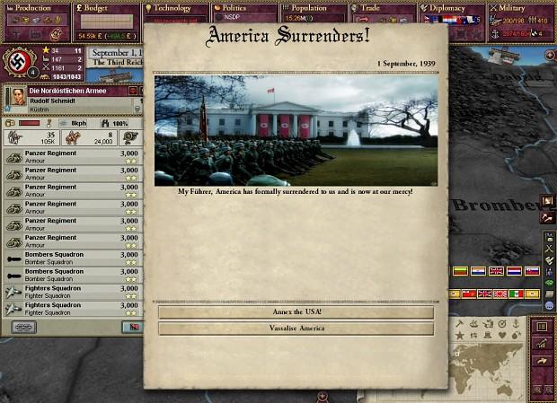German Army Enters Washington