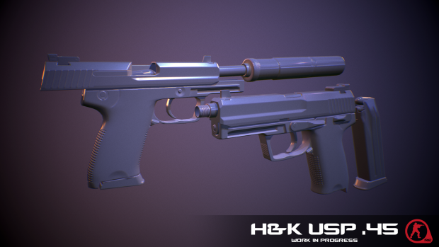 Heckler & Koch USP Tactical Render
