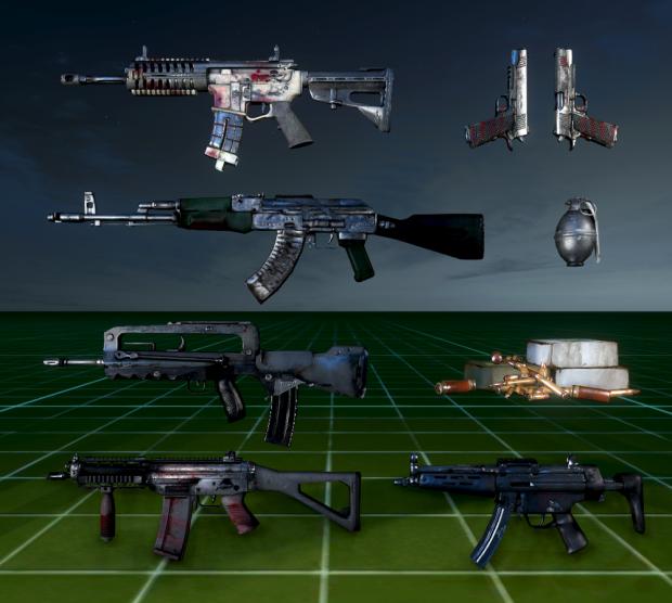 Reskinned weapons
