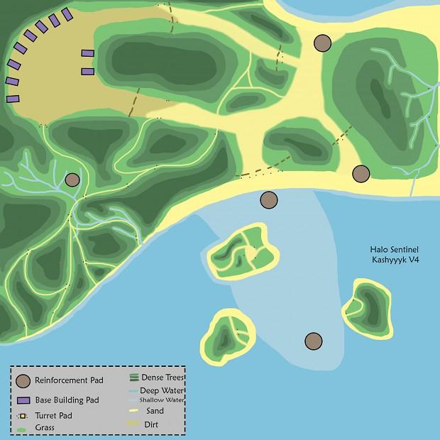 Kashyyyk land map design