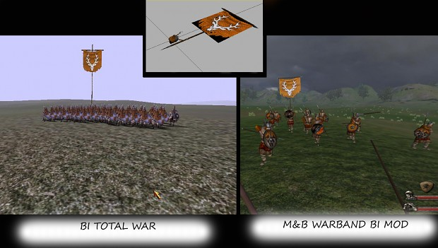 Saxons Faction Flag on the Battleground