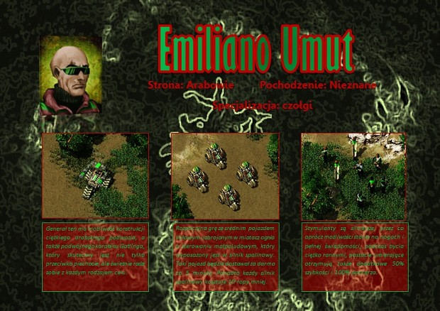 Emiliano Umut - Arabian tank general