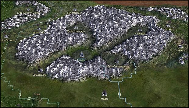 Starting locations for Gondolin