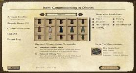 Item Commissioning